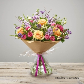 Happy Birthday Tutti Frutti Hand tied
