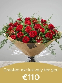24 Red Rose Hand tied